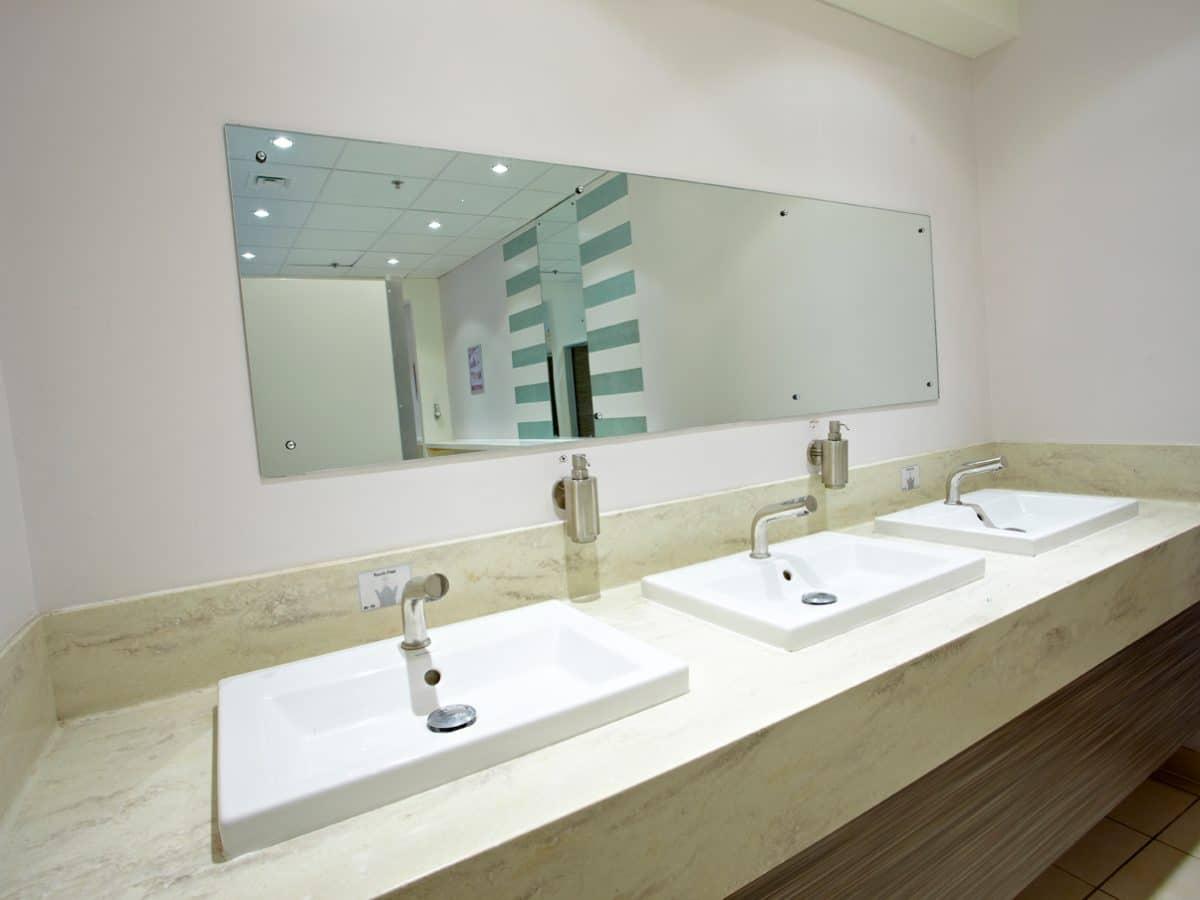 luxury retail washroom hand wash area