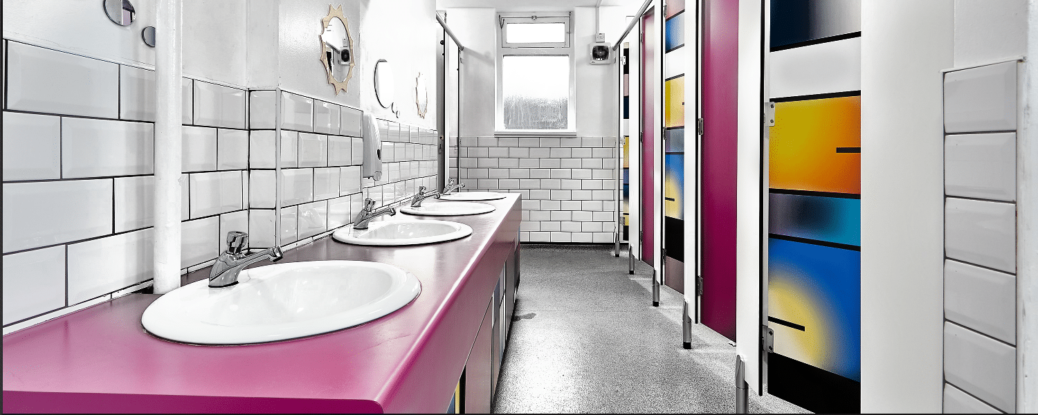 jarrolds high end retail washroom with wood grain cubicle doors colourful  school toilet design. Dunhams Washroom Systems   Washrooms   Toilet Cubicles