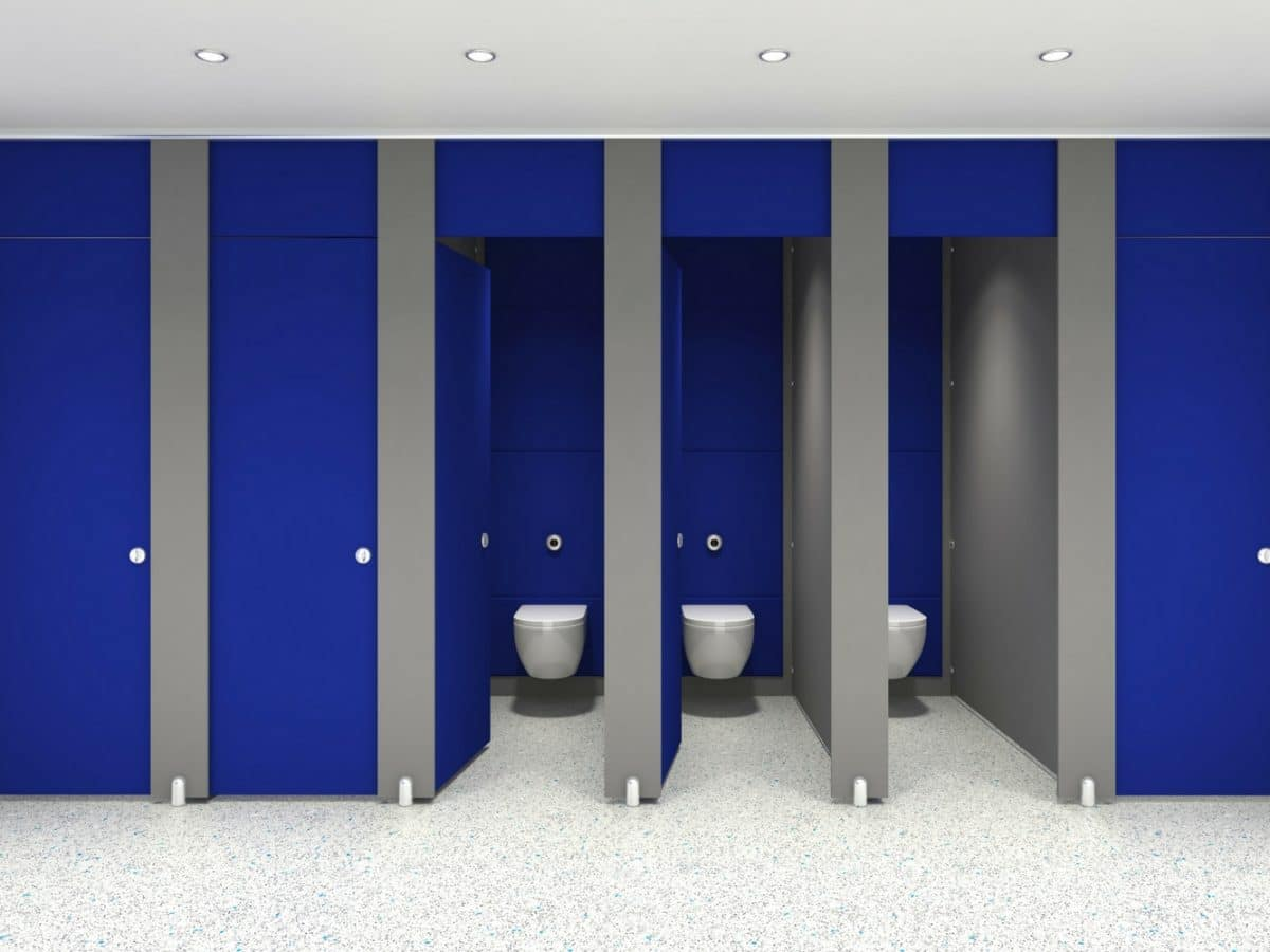 dunhams altitude floor to ceiling toilet cubicles for schools