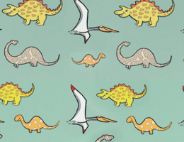 dinosaurs graphic print Dunhams washroom colour range