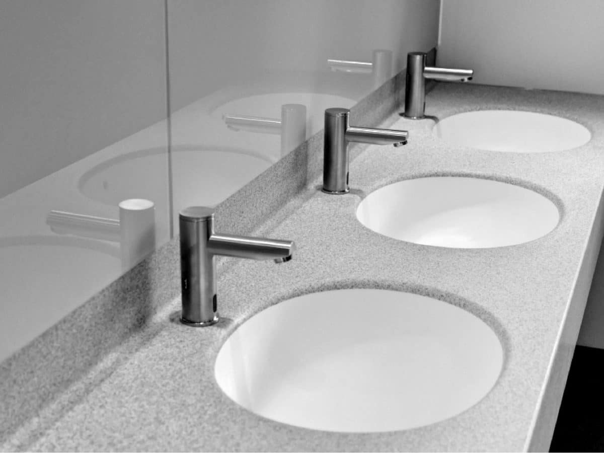 solid surface vanity unit for hand wash basins
