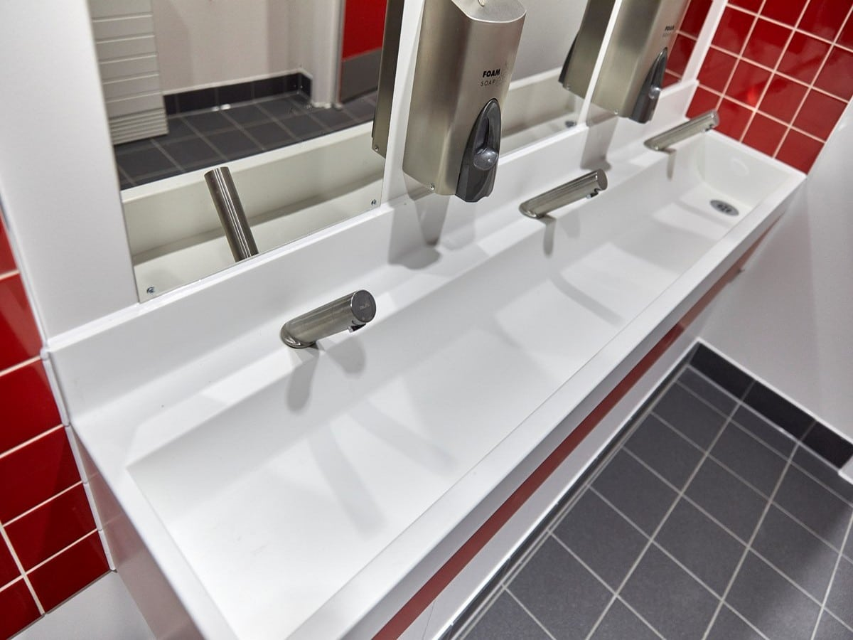 St Marys RC Primary School - Isleworth - Solid Surface Handwash Troughs