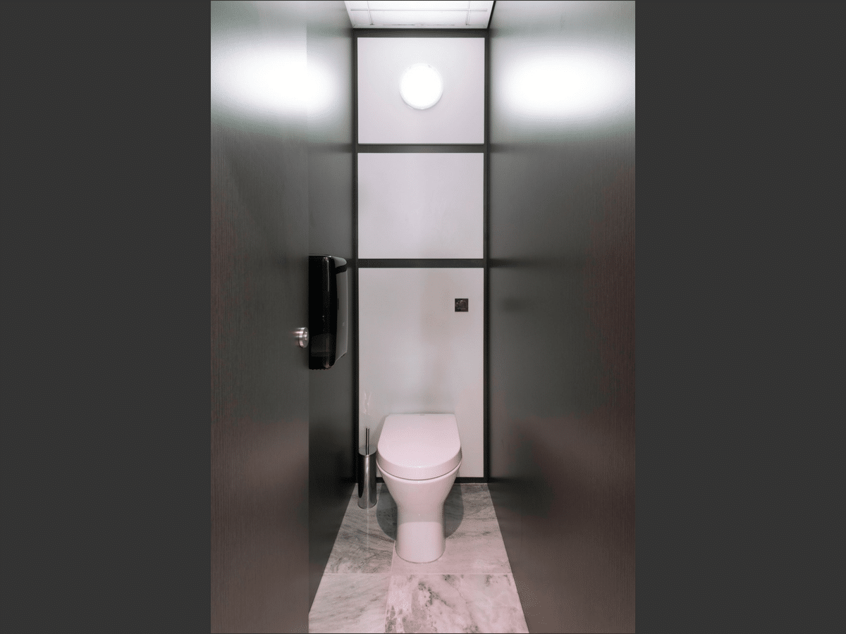 Vista Toilet Cubicle black open