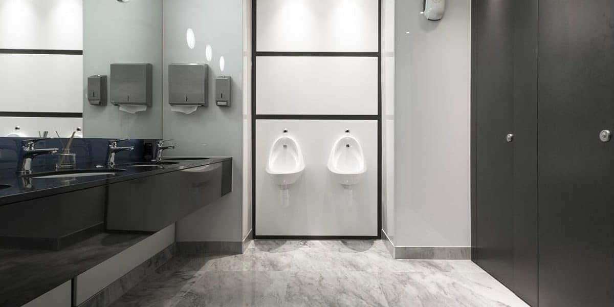 Dunhams vista washroom system corporate luxury washrooms in black