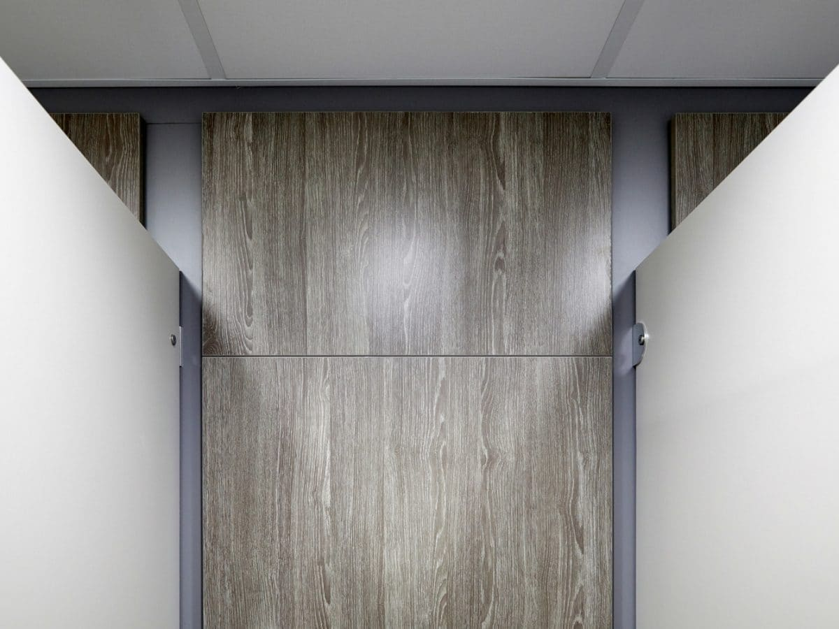 wood grain toilet duct panels