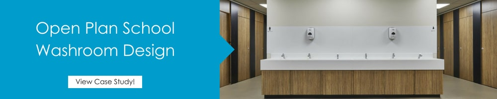 school toilet open plan case study