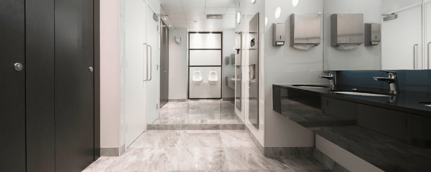luxury office commercial washroom cubicles