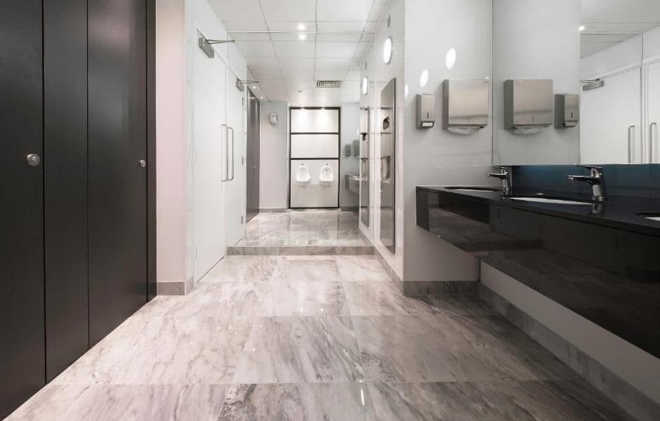 marble floor and stone hand wash area high end toilet