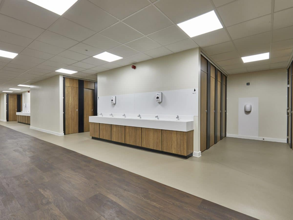 open plan school washroom design
