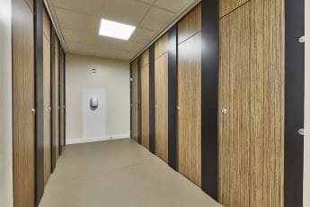 full length toilet cubicle system for schools