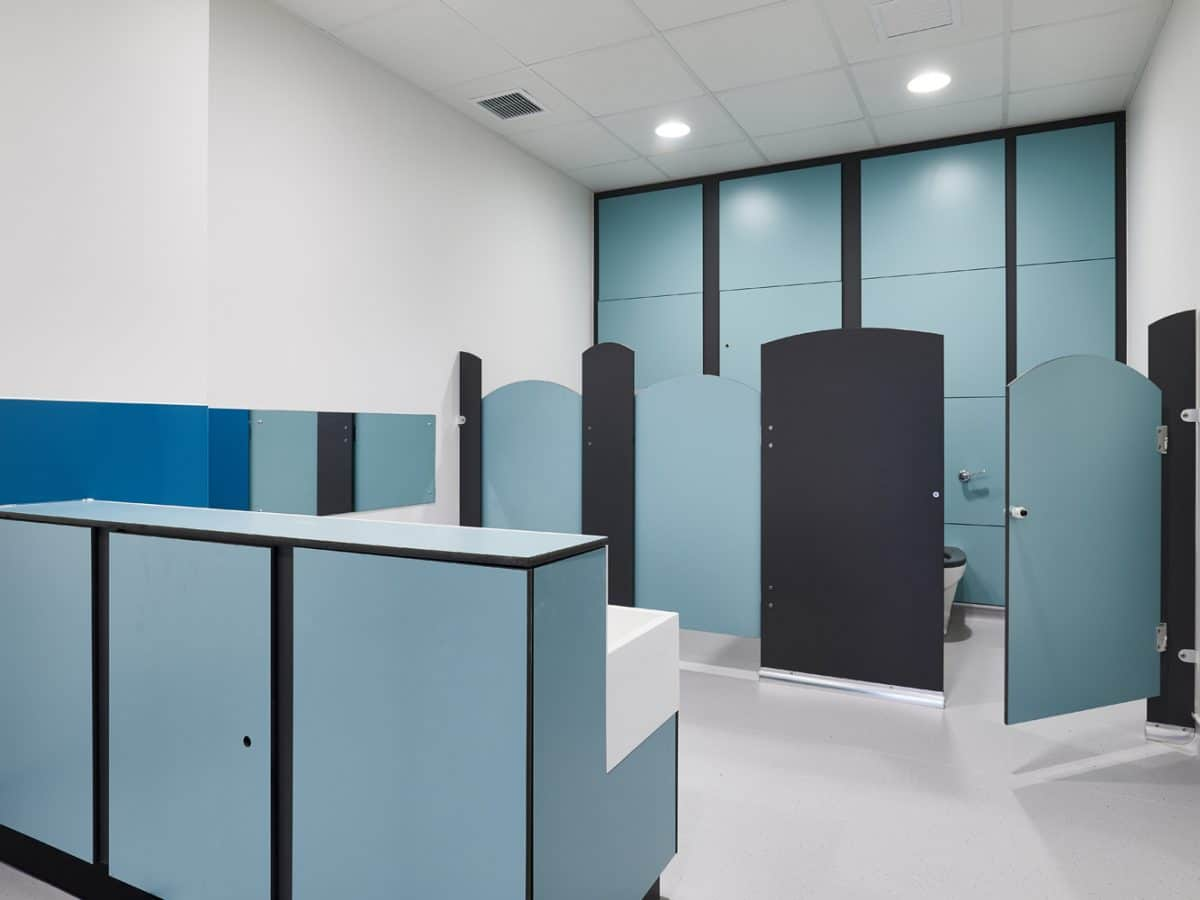 dunhams nursery school cubicle system and vanity unit