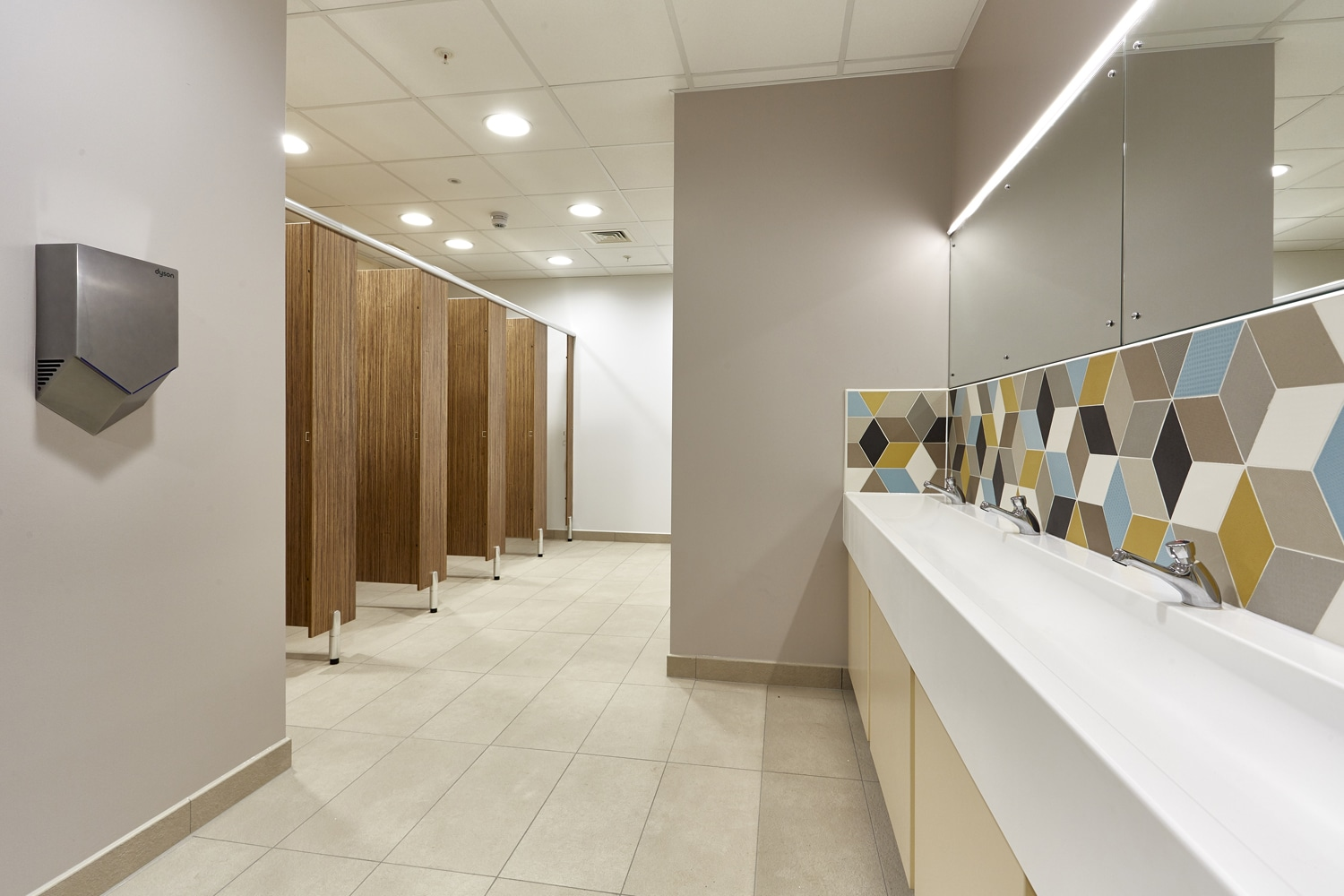 corporate office washroom design