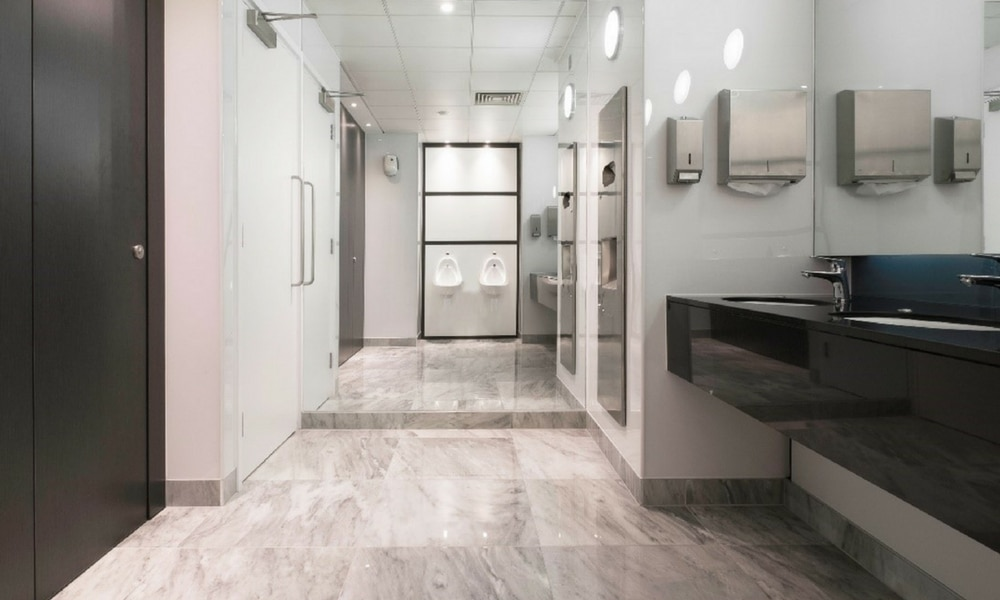 luxury office washroom fit out toiletsa