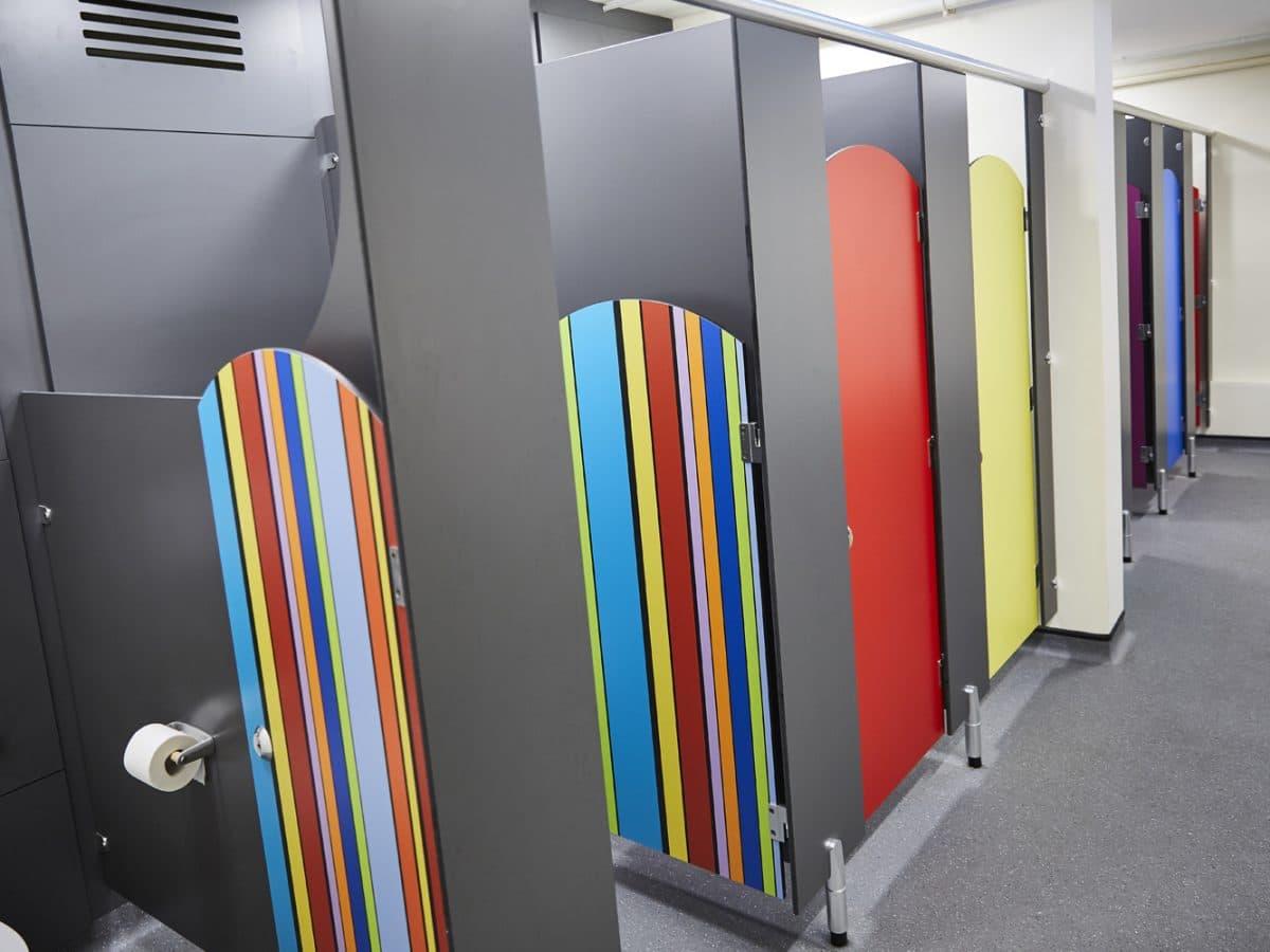 wimbish primary school cubicle doors colour