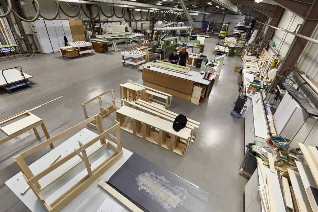 Dunhams' - Warehouse and assembly lane