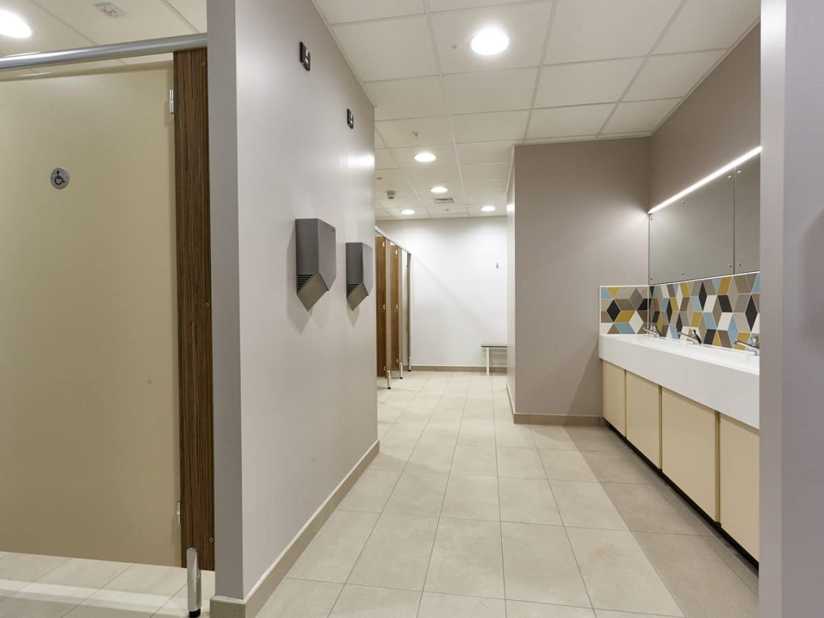 Global Food Producer Toilet Cubicles trough basin