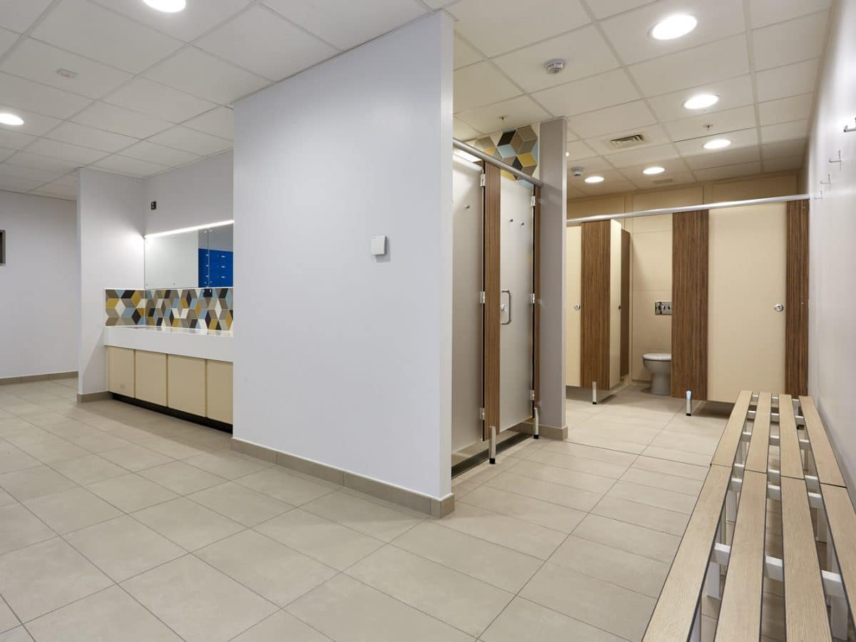 Global Food Producer Toilet Cubicles and benches