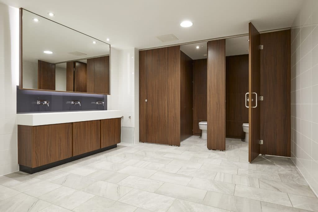 Commercial Washroom - Wooden Brown