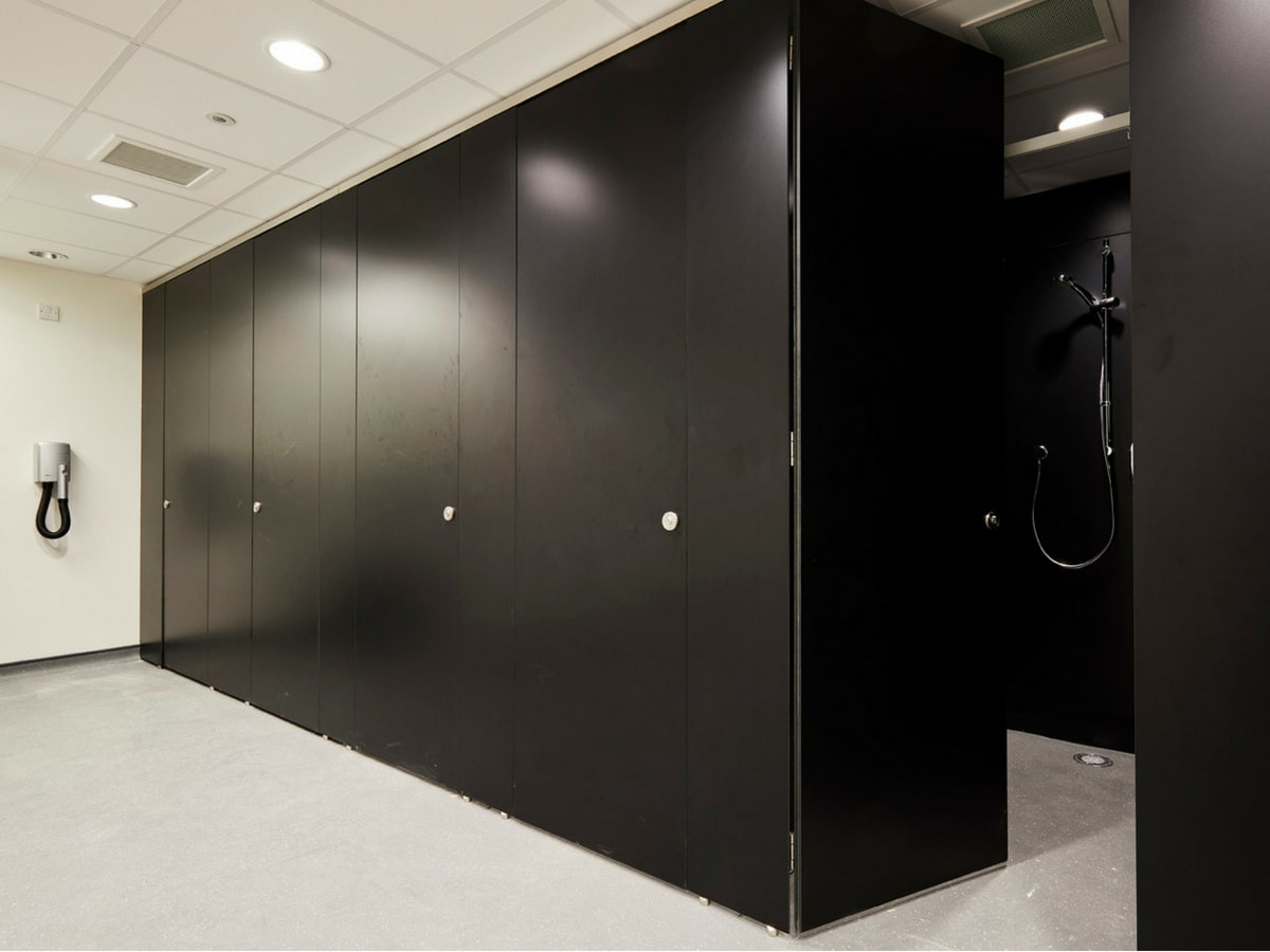 shower cubicle door black