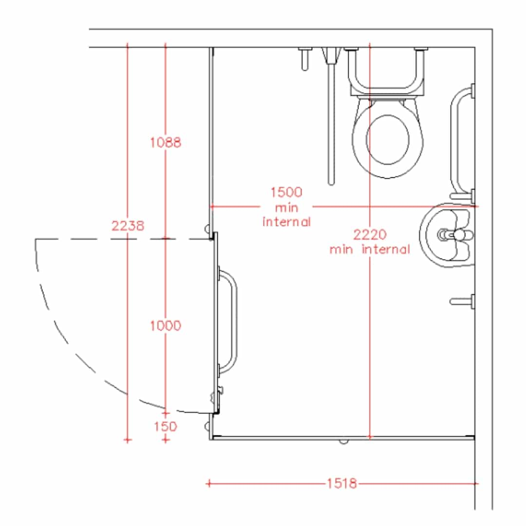 Toilet Cubicle Sizes & Dimensions Guide | Dunhams Washroom
