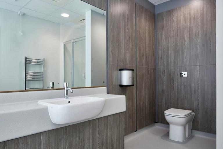 Washroom & Handwash - Wooden Style
