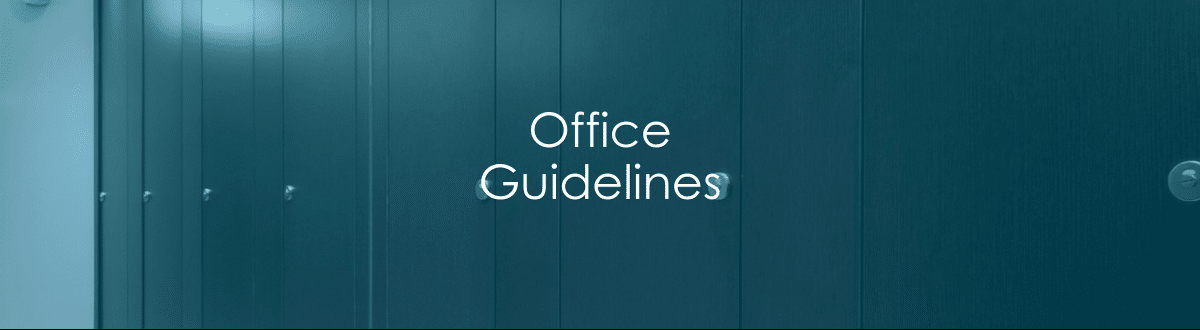 Office Guidelines Banner