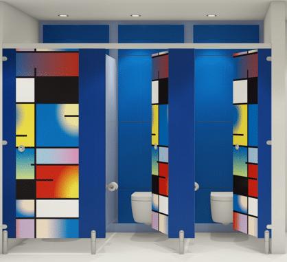 Modern Washrooms - Blue doors 2