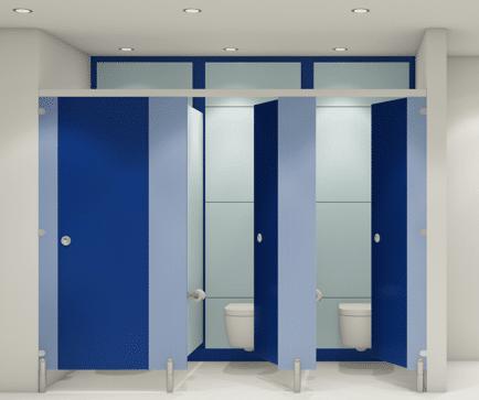 Modern Washrooms - Blue doors 4