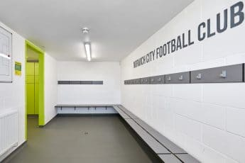 Norwich City Football Club Changing Room