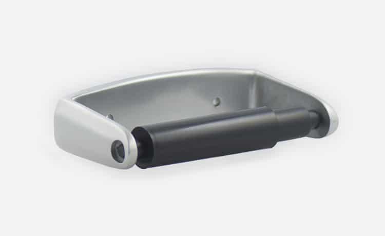 Aluminium toilet roll holder 2