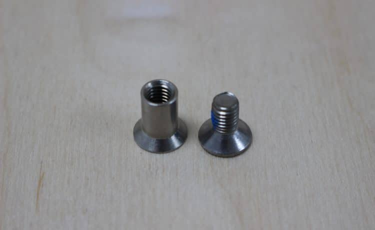 Stainless Stell T Nut Countersunk Example