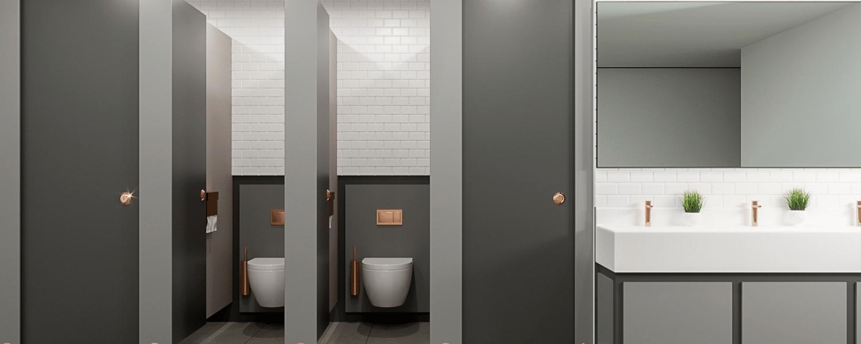 Washroom Design Visual Contrast
