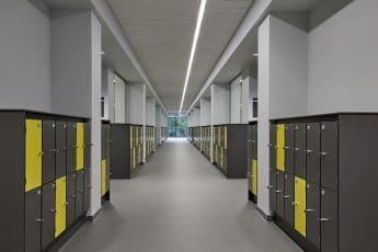 Gym Lockers Aisle